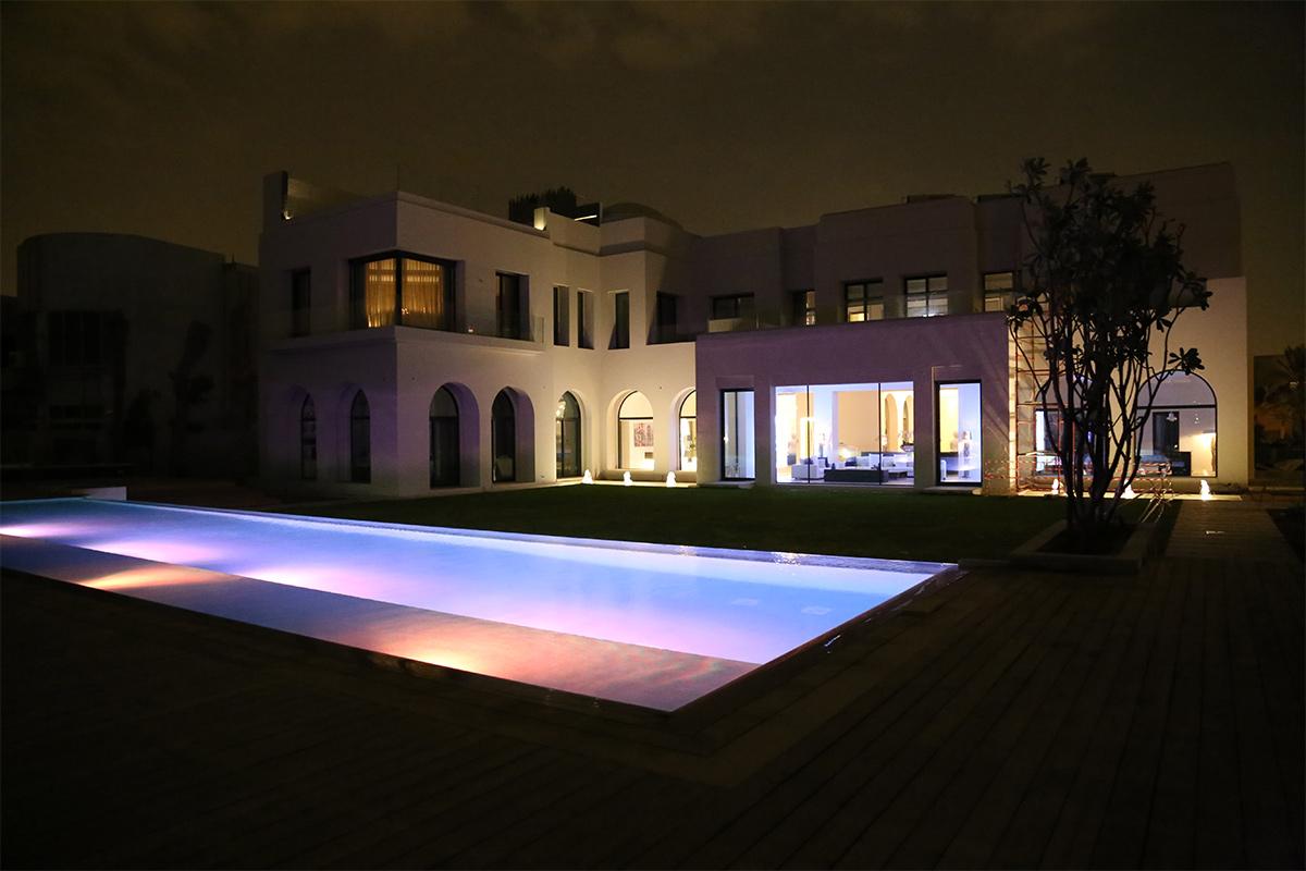 sonorisation extérieure , pool-house, jardin ou bassin aquatique et piscine